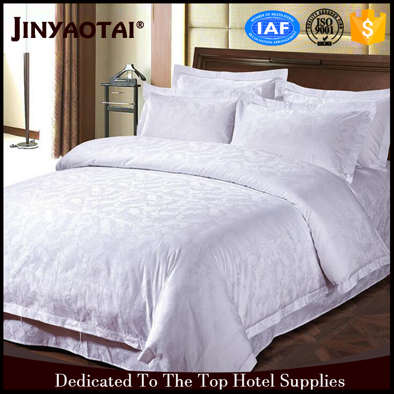 Full Bed Guangzhou Polyester/Cotton Hotel Life Hotel Linen Set