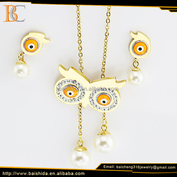 alibaba stock jewelry funny design children jewelry sets with necklace and earrings