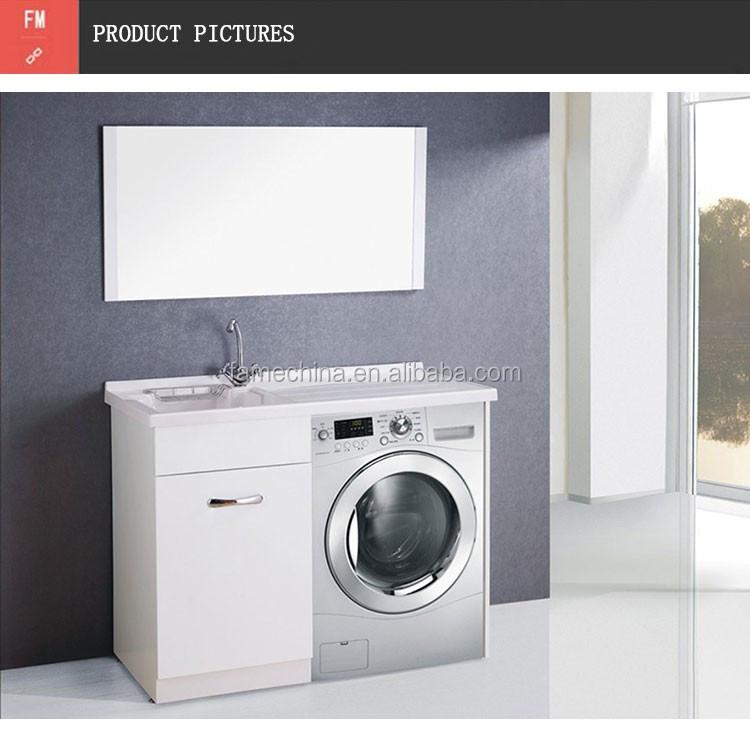 Ba o lavadero armarios con espejo y lavamanos gabinete for Lavadero de bano precio