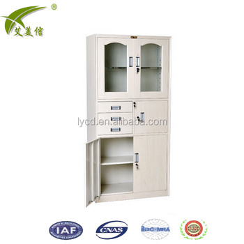 Half Glass Door 3 Drawers Inside One Box Office Safe Locker With
