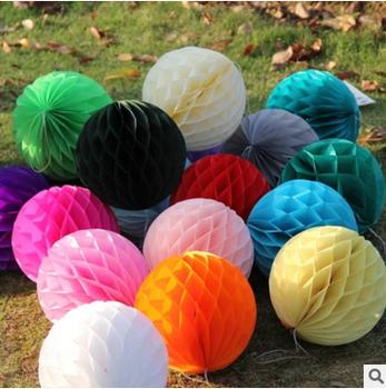 large hanging christmas decoration tissue paper honeycomb balls