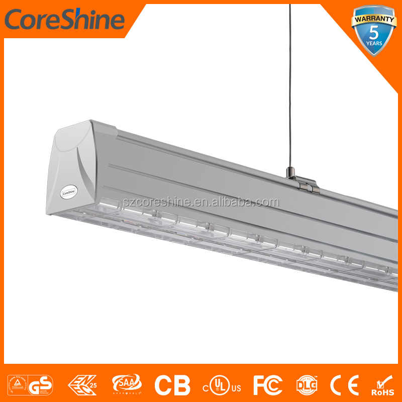 ENEC led linear light 0.6m 1.5m 3M 4.5M 5/7/11 wires dali/1-10v sensor emergency functions 5Years warranty led linear fixture