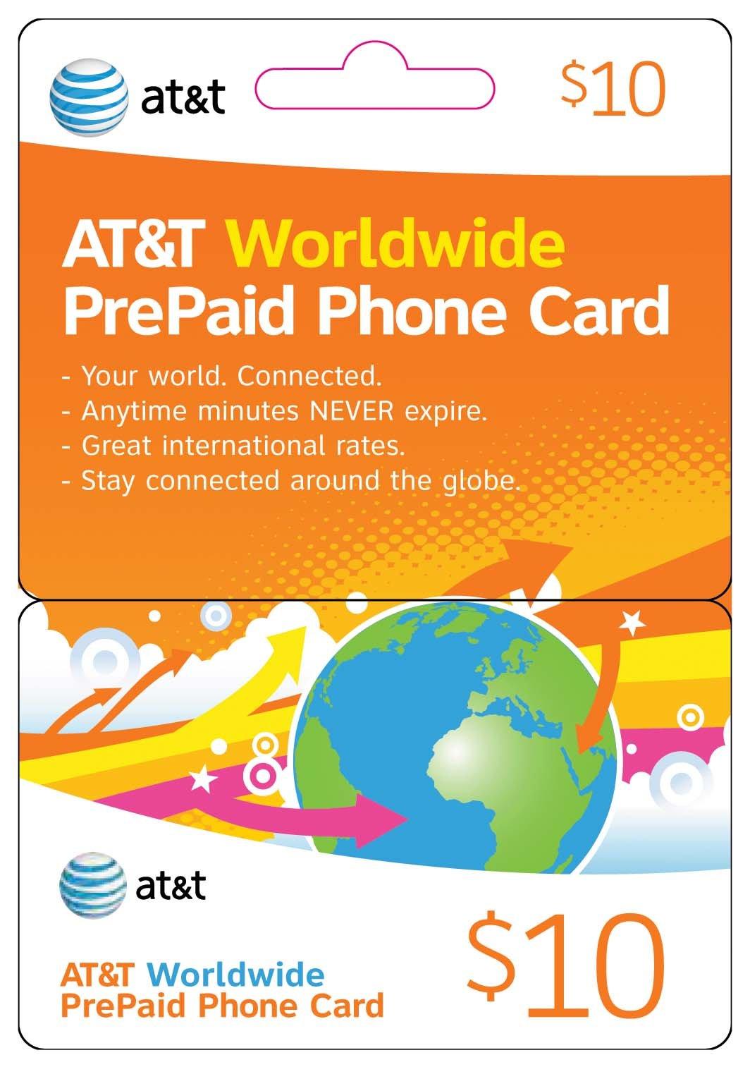 AT&T Worldwide Prepaid Phone Card ($50, 3pcs-$10 & 1pc-$20)