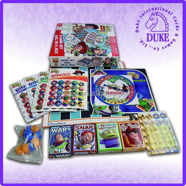 Multiple board game set for child