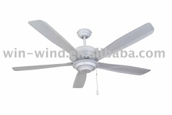 52inch 3 ABS blades white modern Ceiling Fan with light