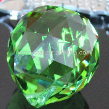 Crystal Ball For Chandelier Machine Cut Light Green