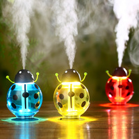 Portable 360 Degree Rotation Beetle Ultrasonic Humidifier 260ML Mini USB Air Freshener Purifier Mist Maker