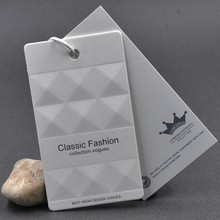 Factory Custom Paper Garment Hang Tags Clothing Swing Tag Hair Extension Tags