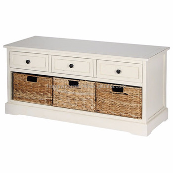 Sensational French Cottage Style Wood 3 Storage Baskets Bedend Shoe Bench White Buy Bedend Shoe Bench Product On Alibaba Com Gmtry Best Dining Table And Chair Ideas Images Gmtryco