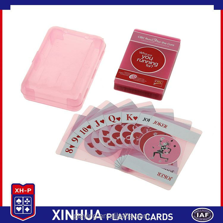Modern style excellent quality plastic pvc waterproof playing cards