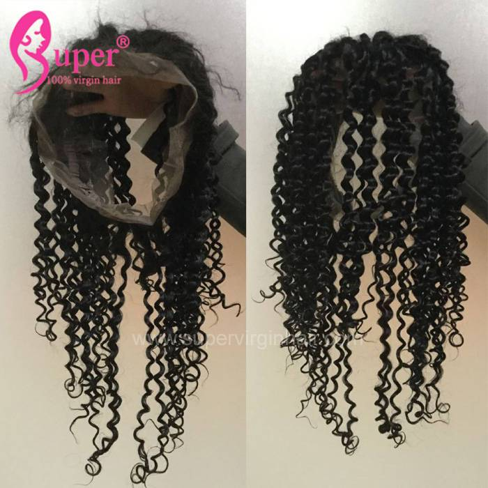 Best Selling Custom 360 Human Natural Hairline Hair Lace Frontal Weave Natural Curly Hairstyles Piece