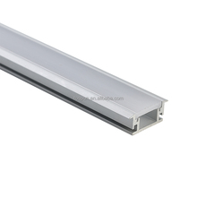 Recessed led aluminum profile with Flange,Compatible with LED Strip