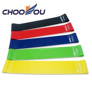 5 Levels Fitness Rubber Mini Stretch Resistance Loop Bands For Gym Exercise