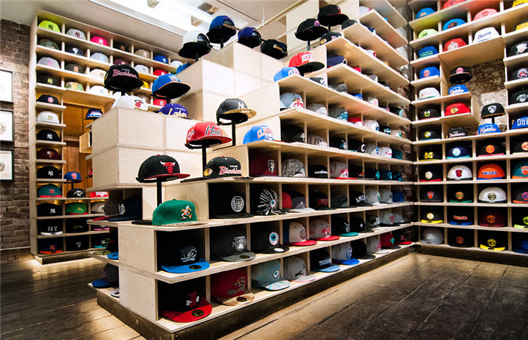 Custom creative hat display stand wood baseball cap rack - Perchero para sombreros ...