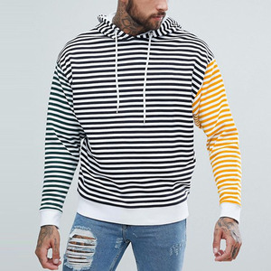 custom clothing manufacturers oversized contrast stripes mens hoodie