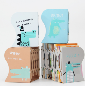 New Design kids stationery items Stretched bookshelves funky fancy stationery products