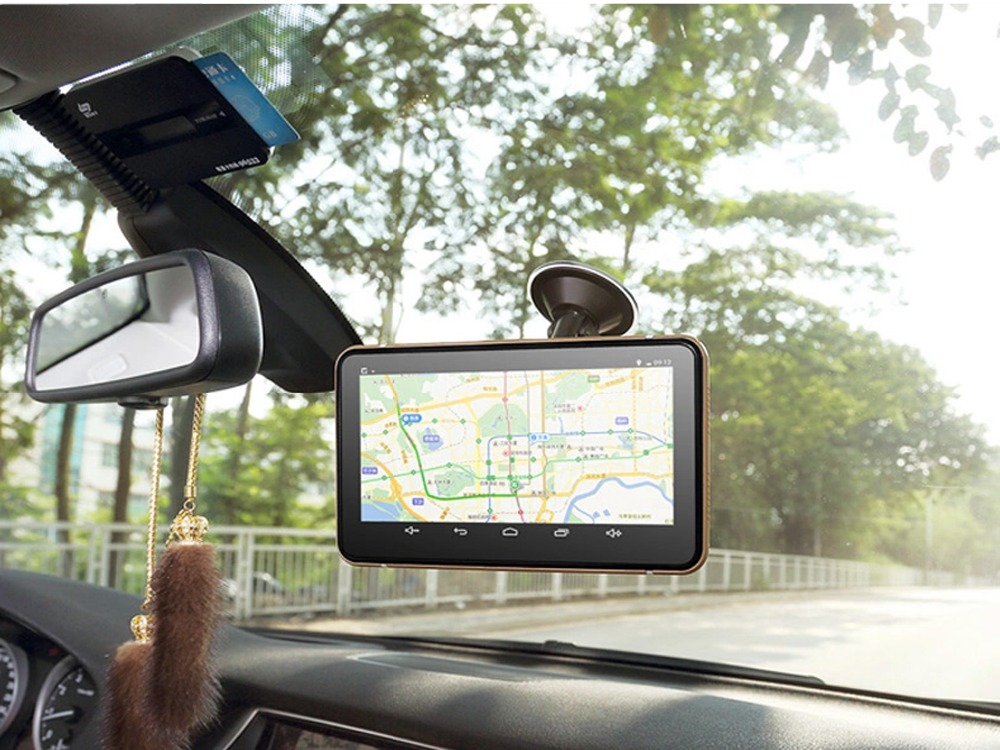 "7"" Android 4.4.2 Vehicle GPS Navigation Truck Car GPS Navigator Tablet PC Car Radar Detector Car DVR"