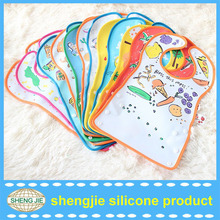 cheap promotion waterproof plain silicone baby bib manufacturer