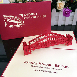 creative 3d Sydney Harbour Bridge custom pop up business cards