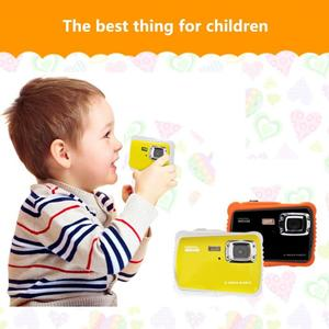 Cartton Mini 2.0inch Kids Digital Camera 12MP HD 720P Waterproof Portable Camcorder Video Recorder Built-in Microphone Gift New