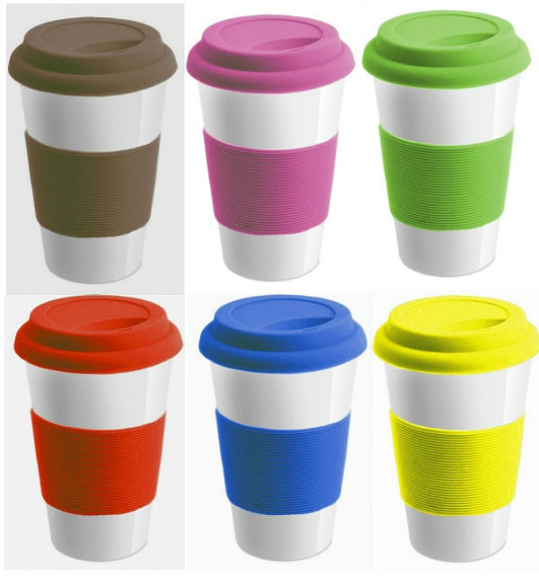 Hot Bpa Free Kitchen Ceramic Coffee Mug With Silicone Lid