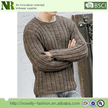 Hot Sale Knitting Pattern Men Wool Sweater For Spring Soft And