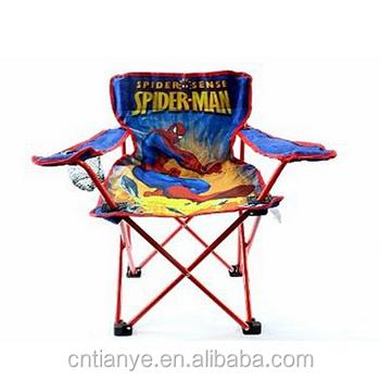 spider man kids folding camp chair