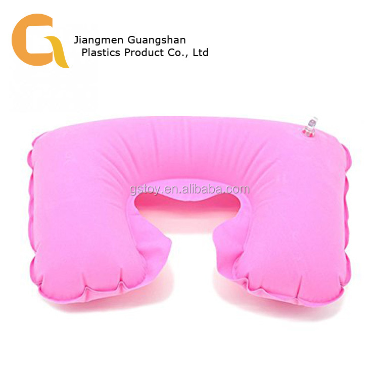 Promotional low price pink inflatable neck pillow