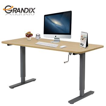 Hand Crank Table Lift Mechanism With Ergonomic Workstation Cool Desk
