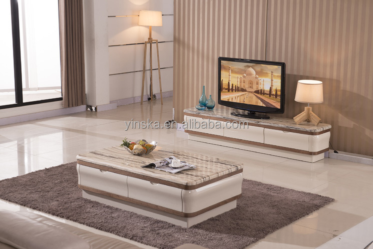 Living Room Cream Lcd Tv Stand Design Wooden Furniture