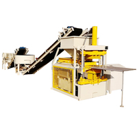 HBY2-10 hydraulic full automatic low cost ecological brick machine soil cement high profits