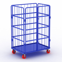 Folding Box Folling Pallet Trolley on Wheels