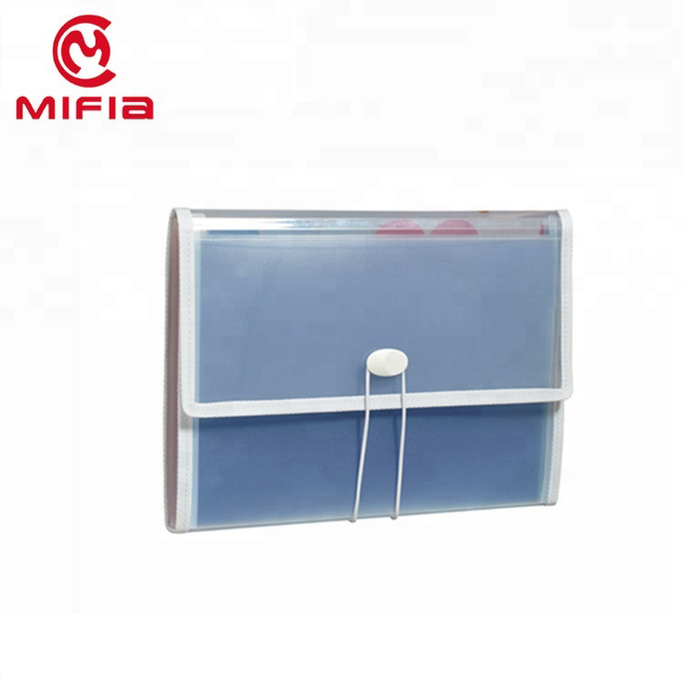 MIFIA filing producten plastic poly 12 pocket expanding file case