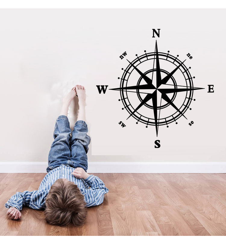 9048 Compass Wall Decal <font><b>Nautical</b></font> <font><b>home</b></font> <font><b>decor</b></font> 60*60cm removable wall <font><b>decor</b></font> for <font><b>home</b></font> bedroom decoration stickers free shipping a1