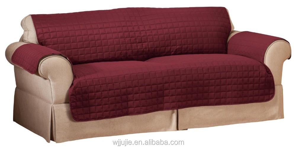 Buena calidad del patr n acolchado de microfibra sof for Housse causeuse