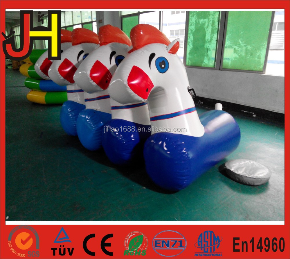Factory Price Inflatable Pony Hop Racing/Inflatable Jumping Horse Racing