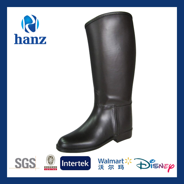 slush solid high knee waterproof horse riding boots for kids
