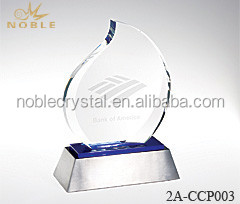 Noble Crystal Blue Eternal Flame Awards And Trophies