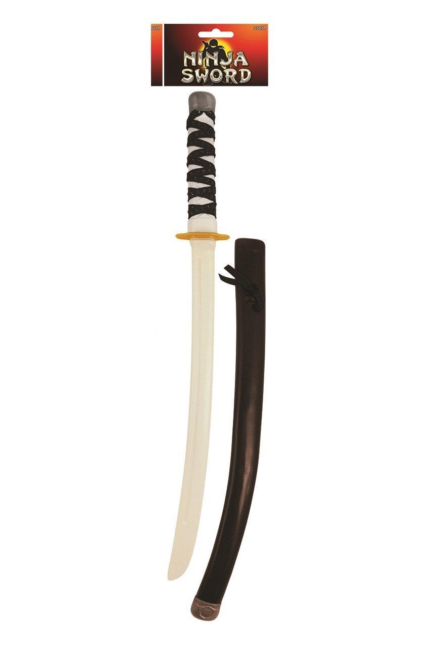 New Toy Halloween Ninja Plastic Dragon Double Sword Staff Warrior Fantasy Weapon