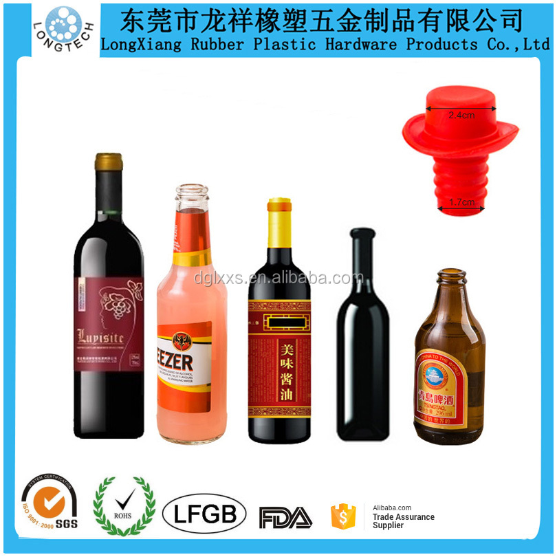 China Supplier FDA /LFGB Approved Minions Silicone Wine Bottle Plugs