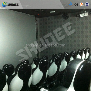 Large Screen 5D Cinema Theater Seating Snow Bubble Lights