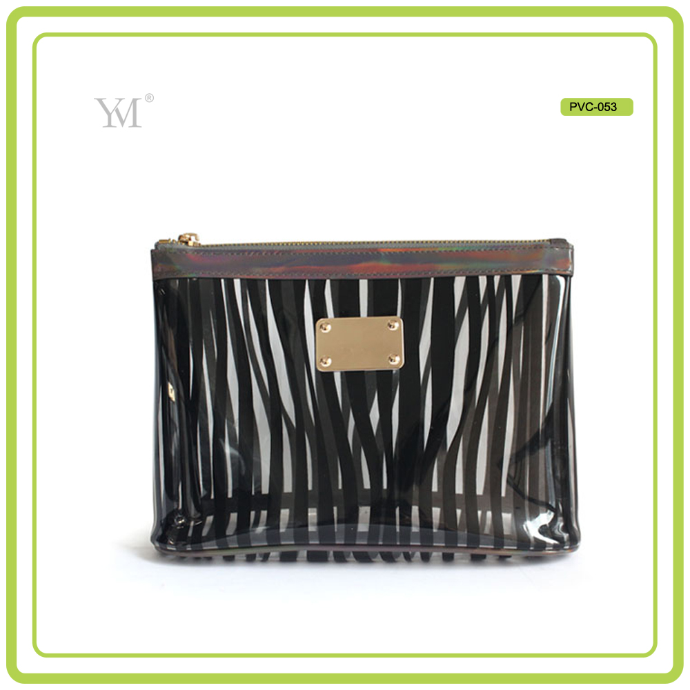 new product best price wholesale hot popular custom full silk printing 2017 cosmetic clear pvc crossbody bag