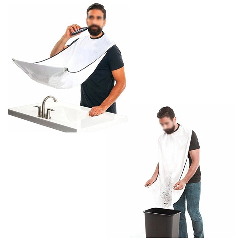 Custom Printed Embroidered Logo Nylon Shaving Beard Apron for Hotel
