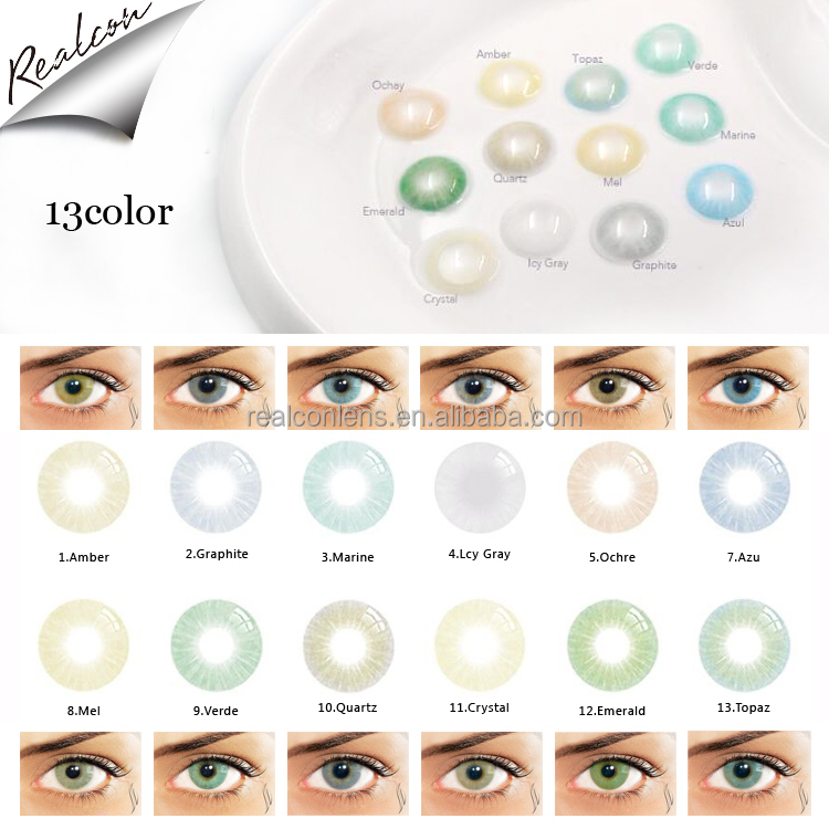 13 colors super natural cheap colored contact lenses for eyes OEM/ODM wholesale color contact lens