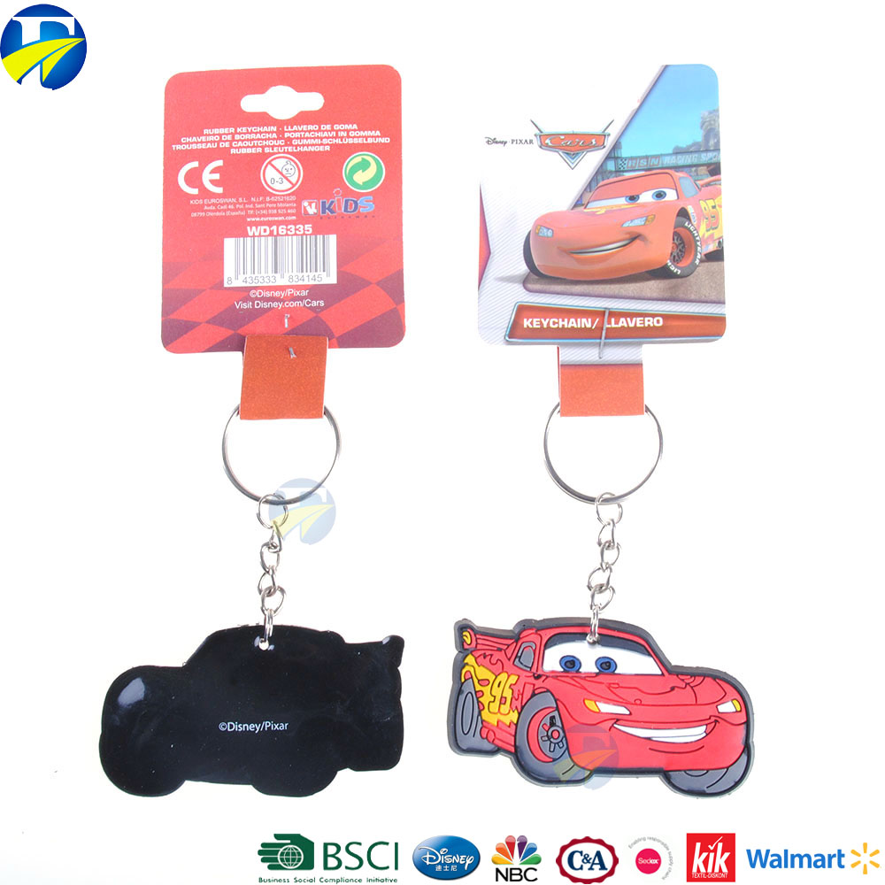 FJ brand red car key chain for boy keychains in bulk for kids