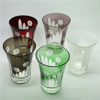 mounth blown multifunctional whisky ice cup/whisky wedge glass/whiskey glass drinkware