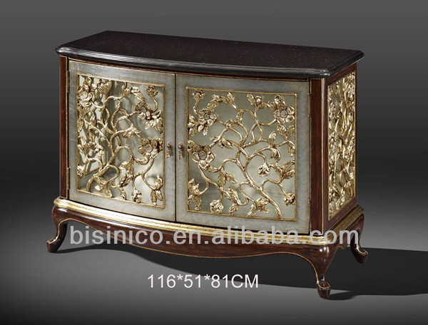 Exquisite Wood Carved Two Door Cabinet Sideboard Buffet Hand Painted Chest Table Marquetry Furniture