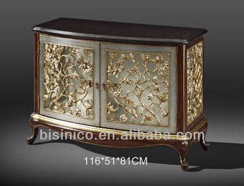 Exquisite Wood Carved Two Door Cabinet,Sideboard,Buffet,Hand Painted Chest  Table