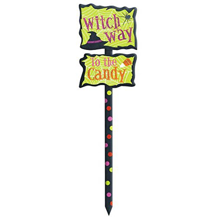 Factory Direct Supply Halloween Houten Yard Stake