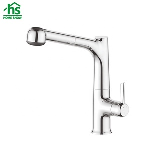 Durable single lever sink mixer tap with deluxev pull out spray for kitchen